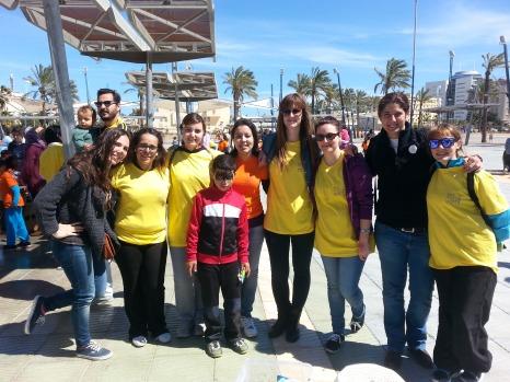 Parte del equipo de las voluntarias de Guelaya.