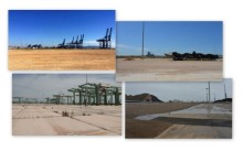 Imágenes del informe europeo en el que se pueden ver infraestructuras vacías y en desuso