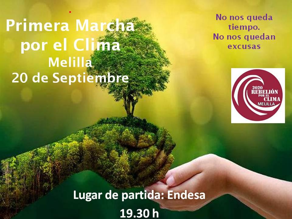 cartel marcha por el clima