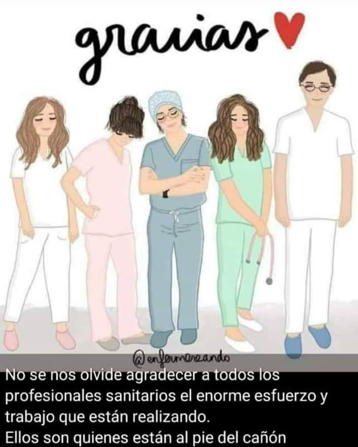 cartel personal sanitario